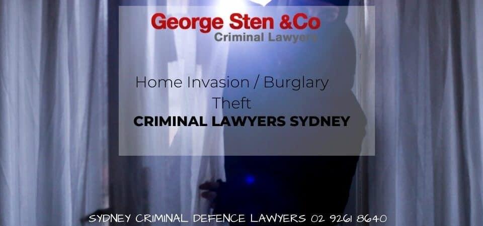 Home Invasion -Burglary-Theft- George Sten &Co