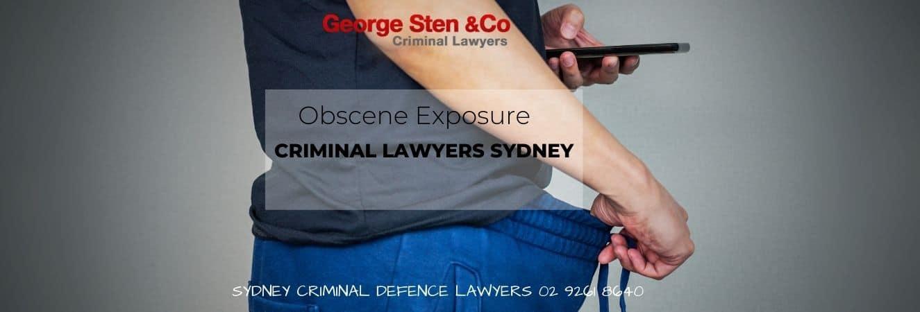 Obscene Exposure Lawyers Sydney