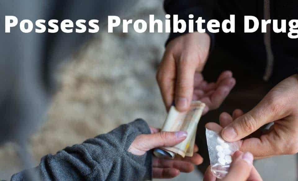 Posess Prohibited Drug