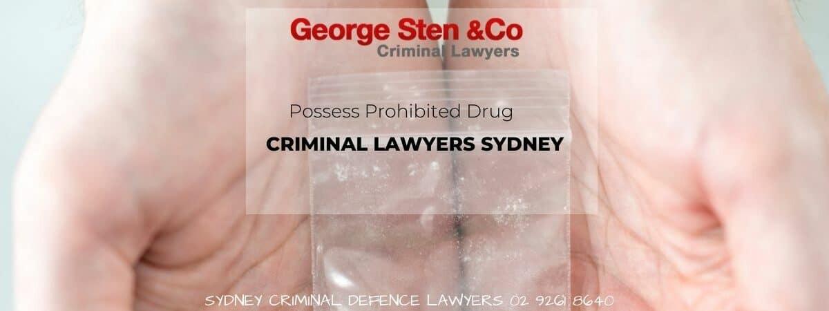 Posess Prohibited Drug - Drug Lawyers George Sten & Co