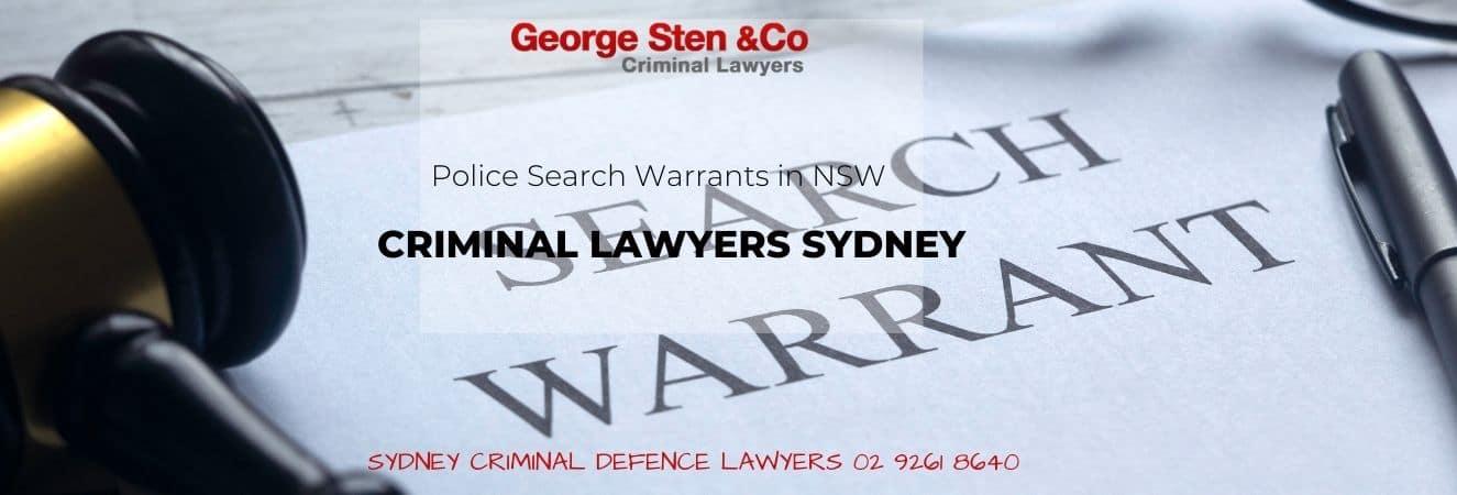 Police Search Warrants In NSW