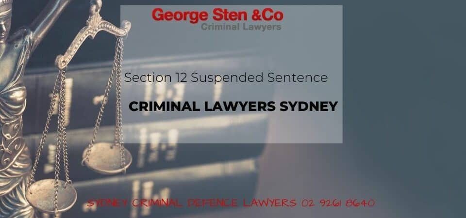 Section 12 Suspended Sentence - George Sten & Co