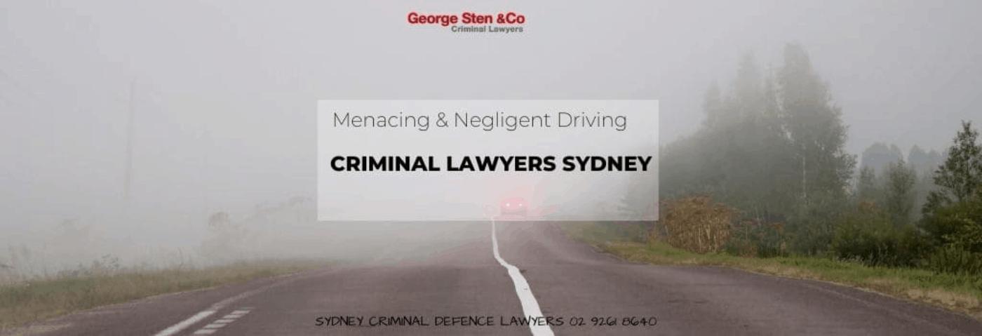 Menacing & Negligent Driving No Conviction