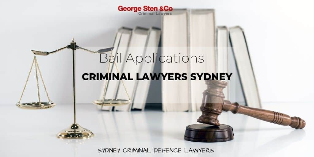 Bail Application Lawyers Sydney - Bail Lawyers - Criminal Lawyers Sydney George Sten and Co