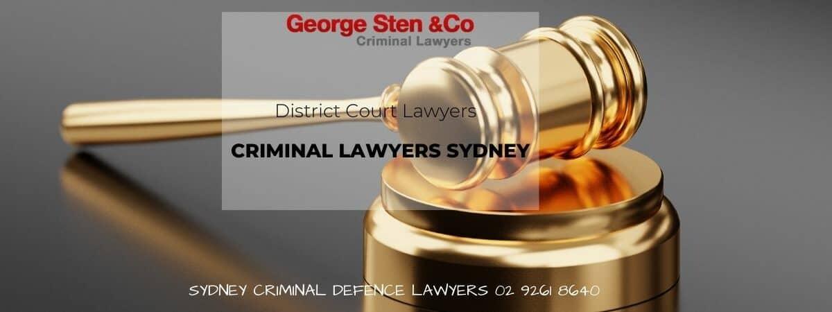 District Court Lawyers Sydney - Criminal Lawyers Sydney - George Sten