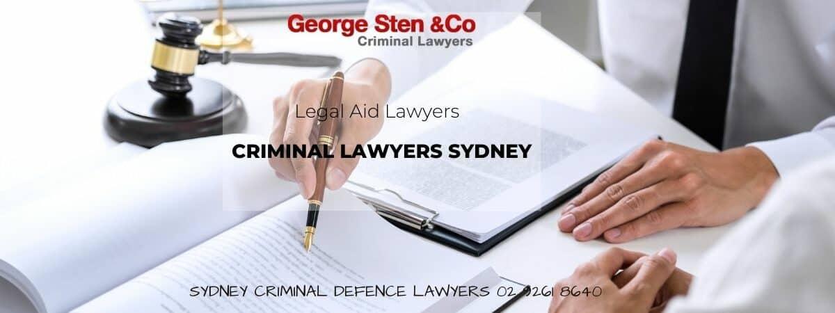 Legal Aid Lawyers Sydney - Criminal Lawyers George Sten